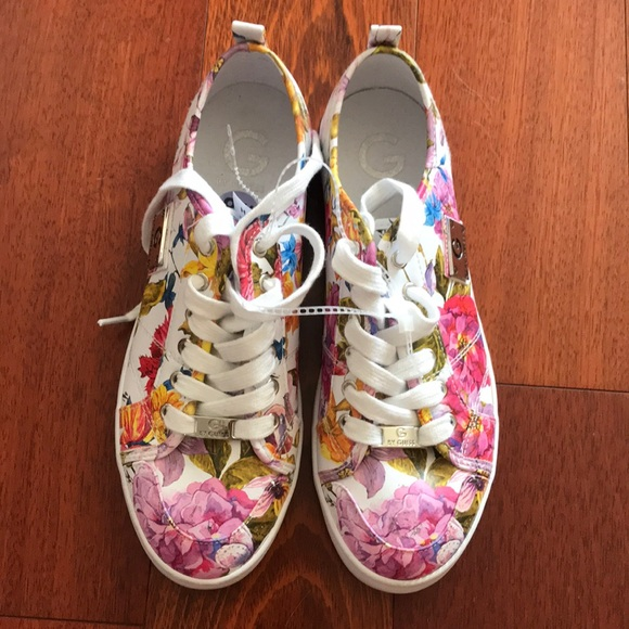 guess sneakers flowers cheap online